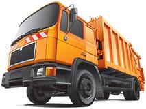 Camión de basura compacto ilustración del vector