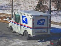 Camión de correo de los E.E.U.U. imagen de archivo