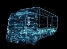Camión de Digitaces El concepto de tecnología digital libre illustration