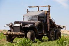 Camión de ejército soviético GAZ Foto de archivo