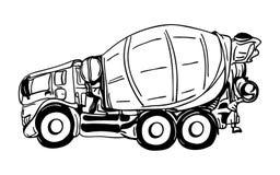 Camión de la agitación Imagen de archivo libre de regalías