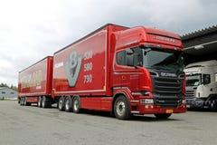 Camión de la astilla de V8 del euro 6 de Scania R730 Fotografía de archivo libre de regalías