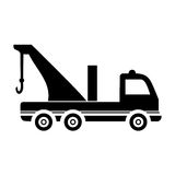 Camión de la avería - coche del evacuador Fotografía de archivo libre de regalías