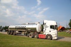 Camión de la cerveza de Tuborg Imagenes de archivo