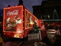 Camión de la Coca-Cola en Preston Fotografía de archivo