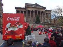Camión de la Coca-Cola en Preston Foto de archivo libre de regalías