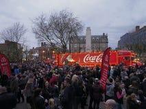 Camión de la Coca-Cola en Preston Imagenes de archivo