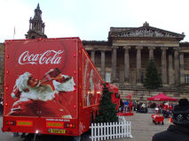 Camión de la Coca-Cola en Preston Fotografía de archivo libre de regalías