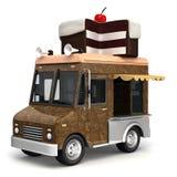 Camión de la comida con la torta Imagen de archivo libre de regalías