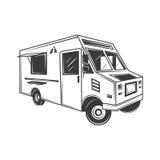 Camión de la comida y camión del helado Fotografía de archivo libre de regalías