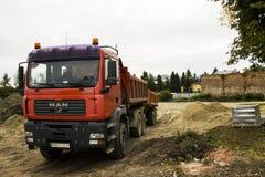 Camión de la construcción Imagen de archivo libre de regalías