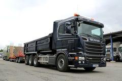 Camión de la construcción de V8 del euro 6 de Scania R580 Foto de archivo libre de regalías
