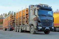Camión de la madera de Mercedes-Benz Arocs 3263 Imagen de archivo