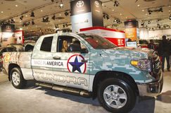 Camión 2015 de la tundra de Toyota en el salón del automóvil 2014 del International de Nueva York Fotografía de archivo libre de regalías