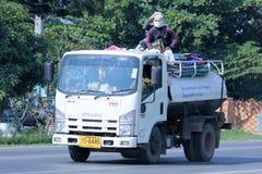 Camión de las aguas residuales Fotografía de archivo
