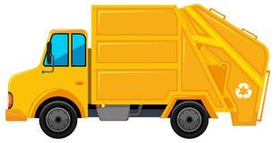 Camión de los desperdicios en color amarillo stock de ilustración