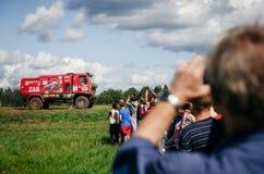 Camión de MAZ Racing Team DAKAR en la reunión de Baja en Bielorrusia imagen de archivo libre de regalías