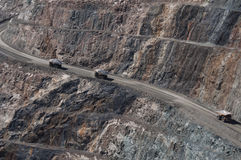 Camión de mina en el Kalgoorlie Imágenes de archivo libres de regalías