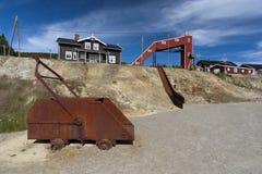 Camión de mina viejo del moho en el campo de la mina de cobre, Foldall Fotos de archivo libres de regalías