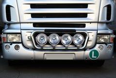 Camión de plata Imagen de archivo libre de regalías