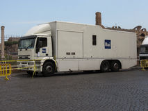 Camión de RAI TV fotografía de archivo