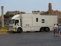 Camión de RAI TV foto de archivo libre de regalías