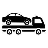 Camión de remolque del coche - ejemplo Imágenes de archivo libres de regalías