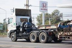 Camión de remolque de Hino de las Right Tunnelling Transport Company Foto de archivo