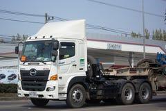 Camión de remolque de Hino de las Right Tunnelling Transport Company Fotos de archivo