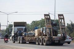 Camión de remolque de Hino de las Right Tunnelling Transport Company Imagen de archivo