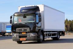 Camión de Renault Range D en una prueba de conducción Imagen de archivo libre de regalías