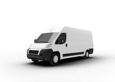 Camión de reparto aislado en blanco fotografía de archivo