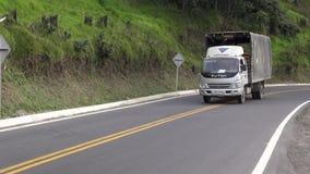 Camión de reparto, cargo, carga, enviando metrajes