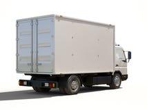 Camión de reparto comercial blanco imagen de archivo