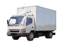 Camión de reparto comercial blanco imágenes de archivo libres de regalías