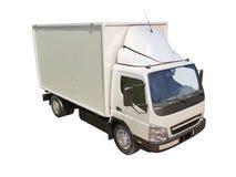 Camión de reparto comercial blanco fotos de archivo