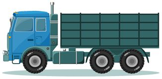 Camión de reparto Concepto del envío Vector Imagen de archivo libre de regalías