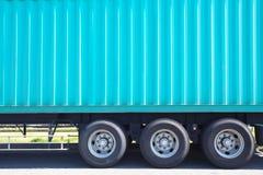 Camión de reparto del cargo foto de archivo