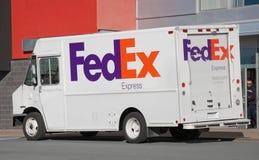Camión de reparto de Fedex imagen de archivo libre de regalías