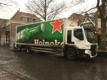 Camión de reparto de Heineken fotos de archivo libres de regalías