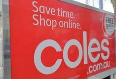 Camión de reparto Melbourne Australia del supermercado imagen de archivo