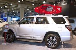 Camión 2015 de Toyota 4Runner en el salón del automóvil 2014 del International de Nueva York Fotos de archivo