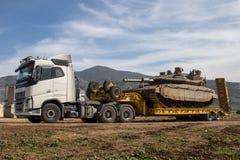 Camión de transporte pesado Fotos de archivo