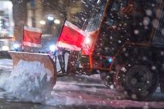 Camión del arado de la nieve imagen de archivo