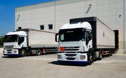 Camión del cargamento Fotografía de archivo