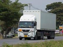 Camión del cargo de JSN Transport Company Imagen de archivo