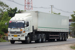 Camión del cargo del remolque de Thanaporn Transport Foto de archivo libre de regalías