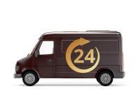 Camión del cargo 24 entregas de la hora Foto de archivo libre de regalías