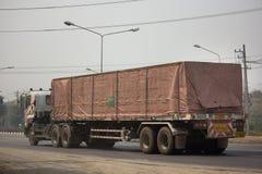 Camión del cargo del envase del remolque de Kankawee Transport Company Imágenes de archivo libres de regalías
