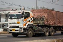 Camión del cargo del envase del remolque de Kankawee Transport Company Fotos de archivo